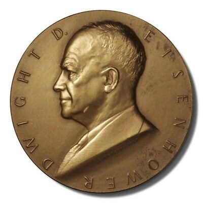 US Mint Dwight D. Eisenhower Presidential Medal 1953 Bronze 77 mm