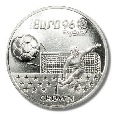 1996 Euro Soccer England Crown from Gibraltar - KM# 359
