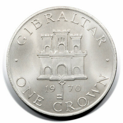 Gibraltar Elizabeth II Gibraltar Coat of Arms 1 Crown 1970 Unc KM4