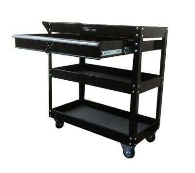 Us Pro Tools Steel Work Bench Tool Cart Trolley Workstaion Box 3 Tiers