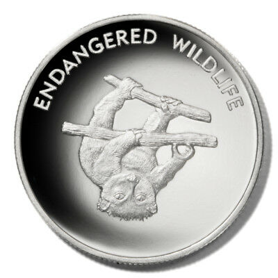 Malawi Endangered Wildlife Lemur on Branch 10 Kwacha 2005 Proof Silver-plated Cr
