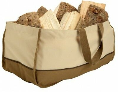 Canvas Log Carrier Tote Bag Fireplace Jumbo Carry Fire Wood Stove Firewood