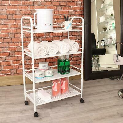 4 Shelf Large Beauty Salon Trolley Cart Storage Dentist Wax Treatment Furnitu...