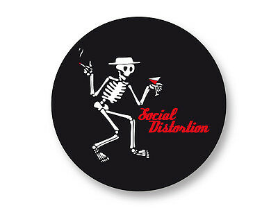 "Pin Button Badge Ø25mm 1"" Logo Social Distortion Groupe Band Punk Rock"