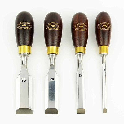 Big Horn 21005 / Crown Tools 174RB 4 Pieces Butt Chisel Set