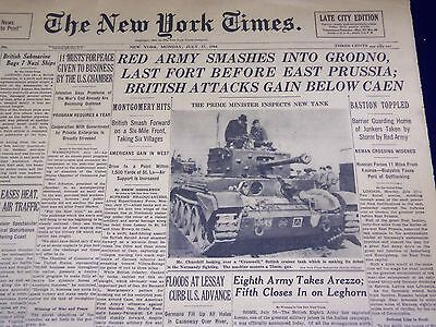 1944 July 17 New York Times - Red Army Smashes Into Grodno - Nt 1640