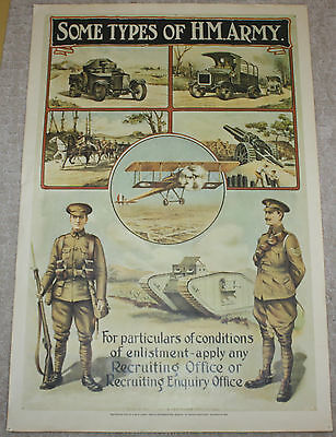 SOME TYPES OF H.M. ARMY Recruitment Poster Reproduced Imperial War Museum