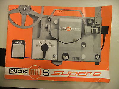 Instructions cine projector EUMIG MARK S super 8 - CD/Email