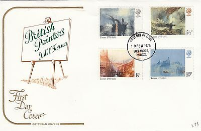(80210) CLEARANCE GB Cotswold FDC JMW Turner - Uxbridge 19 February 1975