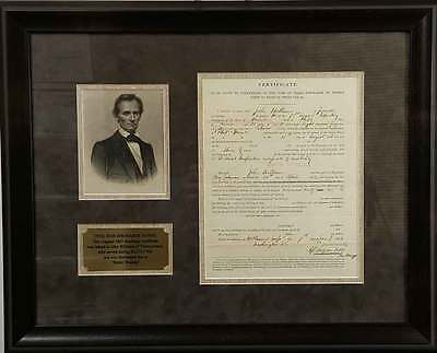 Civil War Solider Discharge Certificate for Battle Wounds
