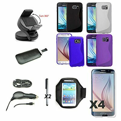 Bundle : bag case protector car charger microusb stand Samsung Galaxy S6 s6 G920
