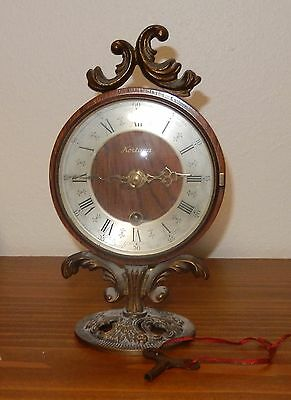 Vintage Kortana  8 Day Wind Up Clock With Key Swiss Made