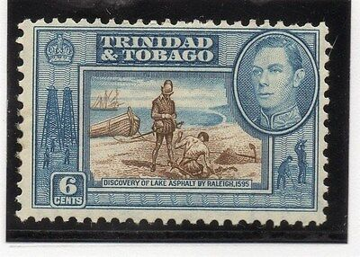 Trinidad & Tobago 1938 Early Issue Fine Mint Hinged 6c. 033894