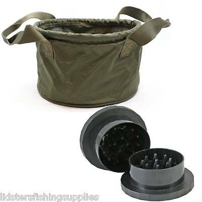 New NGT Groundbait Carp Fishing Bait Mixing Bowl + Boilie Bait Grinder Crusher