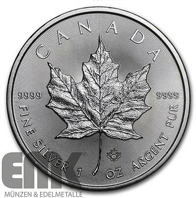 Kanada - 5 Dollar 2016 - Maple Leaf - 1 Oz. Silber in Stempelglanz