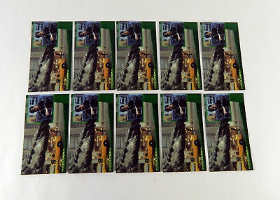 Lot of (10) 1998 Inkworks Godzilla: The Movie Supervue #P1 Promo Cards