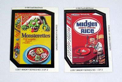 1993 DuanEdwarDimock Lost Wacky Packages Set (2) Monsterettes & Midget Rice