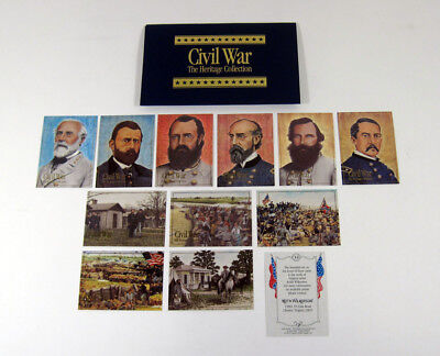 1992 Bon Air Civil War Heritage Series 2 Trading Card Set (12) Nm/Mt