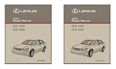 2001 Lexus GS 430 GS 300 Shop Service Repair Manual Book Engine Drivetrain OEM