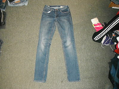 """& And Skinny Jeans Waist 28"""" Leg 33"""" Faded Dark Blue Girls Age 14Yrs Jeans"""
