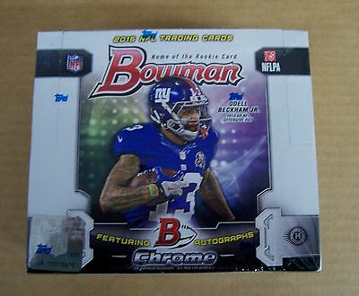 2015 Bowman Football sealed unopened hobby box 10 packs of 25 cards 4 auto