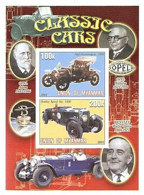 (030165) Cars, Opel, Oldtimers, Myanmar - private issue -