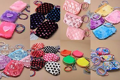 Pack Of 12 Purses With Hair Elastics, Girls, Present, Stocking Filler, Party