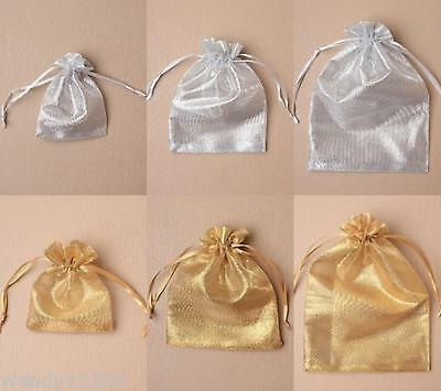 Organza Bag / Pouch With Shiny Thread - Wholesale - Gift Bags - Present - Favour
