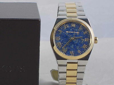 ad48283e56e8 Michael Kors Women s 2 Tone Stainless Blue Lapis Dial CHANNING Watch MK5893   250