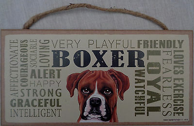BOXER Subway Style  5 X10 hanging Wood Sign made in the USA
