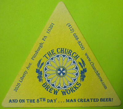Beer Bar Coaster ~ The Church Brew Works Brewing Co ~ Pittsburgh PA Brewery~Bier