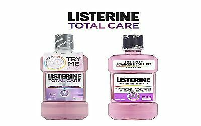 Listerine Total Care Clean Mint Antibacterial Mouthwash 500ml/250ml
