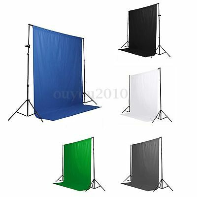 6 x 9ft Screen Muslin Photo Studio Photography Backdrop Background 5 Colors