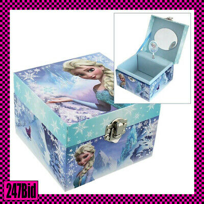 Girls Childrens Disney Frozen Themed Elsa Musical Jewellery Box Trinket Keepsake