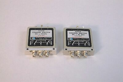 Lot of 2 HP Agilent 33311B Coaxial Switch DC to 18 GHz - USED