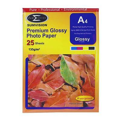 Sumvision 135g A4 Premium Glossy Photo Paper (25 Sheets)