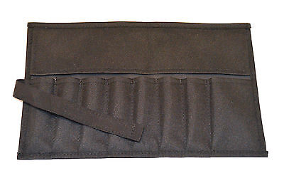 Canvas Roll Up Tool Pouch 8 Pockets Black for Tool Sets And Crafts Tools