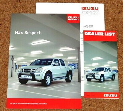 2004 ISUZU RODEO MAX & DENVER MAX Sales Brochure - Limited Edition Models - Mint
