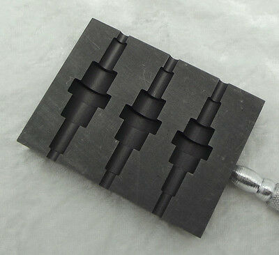 "GRAPHITE Paddle Large Art Deco Bead Shaper 3 Sizes 9.75"" Long Hot Glass"