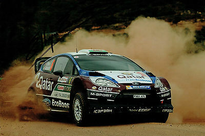 Elfyn EVANS WRC Welsh Rally DRIVER SIGNED AUTOGRAPH 12x8 Photo AFTAL COA