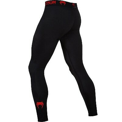 "Venum Compression Spats ""Contender 2.0"" black/red, 2038.  S-XXL. MMA. Training."