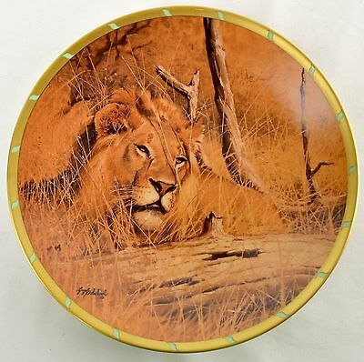Lenox Lion In Wait by Guy Coheleachs Royal Cats Plate Collection