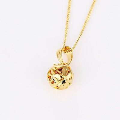 """Charms spheroidal Pendant 18k Yellow Gold Filled Necklace 18""""Link Jewelry Gift"""