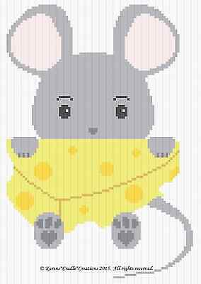 Crochet Patterns - MOUSE and CHEESE BABY Graph/Chart afghan pattern *EASY*