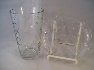 Anchor Hocking Savannah-Clear Toscany Collection Cooler Tumbler & Bread Plate