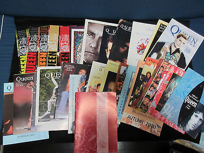 Queen Official International Fan Club Fanzine Book Lot Freddie Mercury