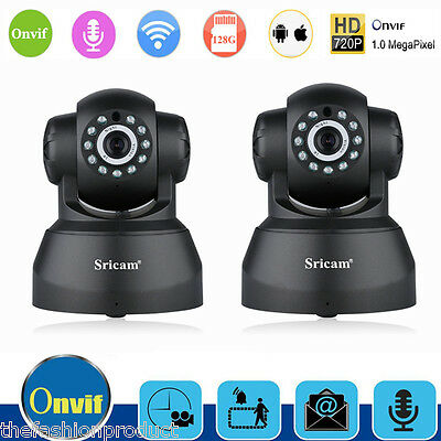 2X 720P CCTV IP Cámara HD Wifi WLAN Video Vigilancia Inalámbrica Visión nocturna