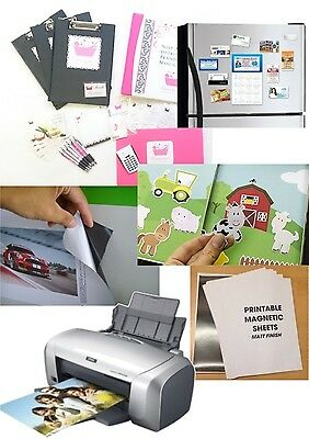 A4 MAGNETIC GLOSSY PHOTO DECAL PAPER Printable,Inkjet/Laser,White