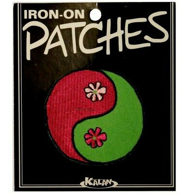 Wholesale Lot Of 10 Ying Yin Yang Psychedelic Daisy Iron On Applique Patches