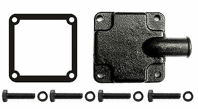 Exhaust Manifold End Cap Plate Mercruiser Repl 60252A2 Hose Fitting & Gasket Kit